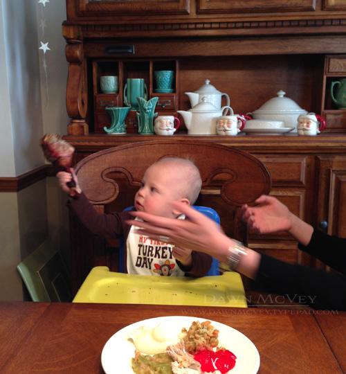 Benji's first Thanksgiving.1