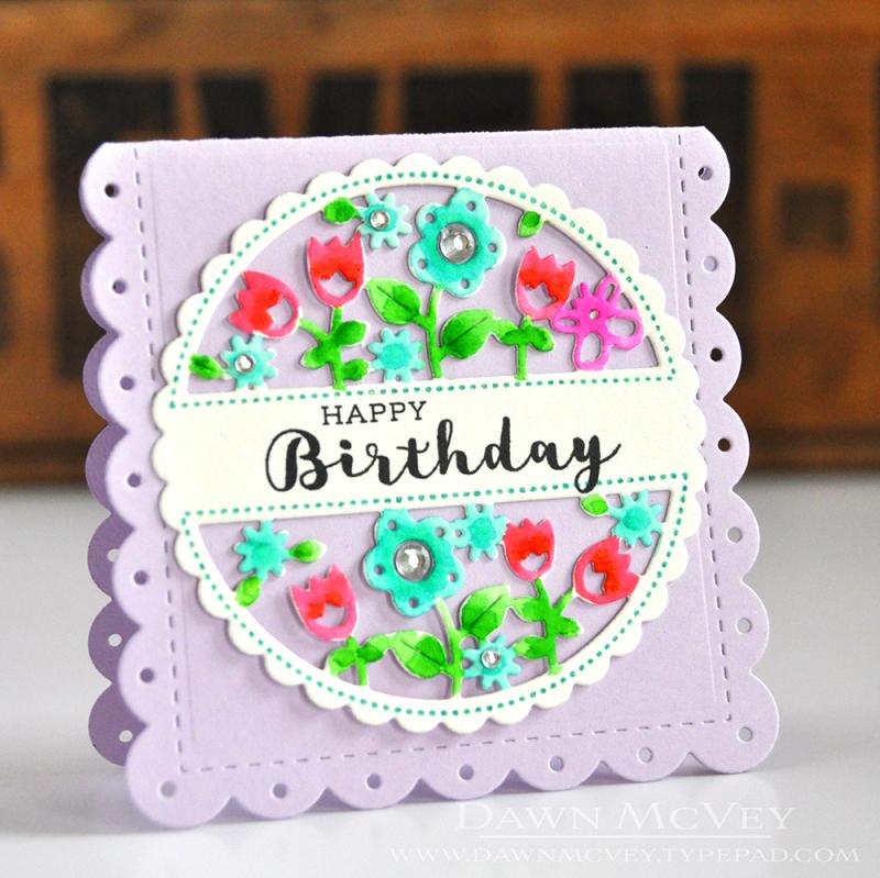 Cutaway Tags-Spring happy birthday