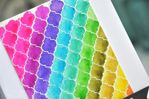 Cover Up Quatrefoil-rainbow2