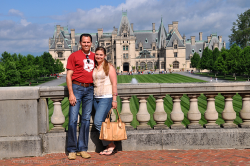 Bartley & Me, in front of the Biltmore